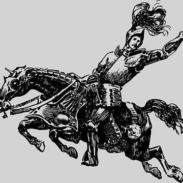 Knight on horseback by askal13