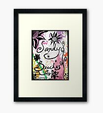 Rachel Doodle Art - Sandy Beaches Framed Print