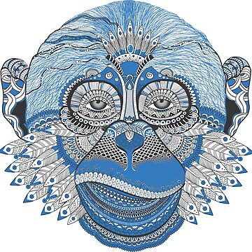 Psychedelic Monkey by askal13