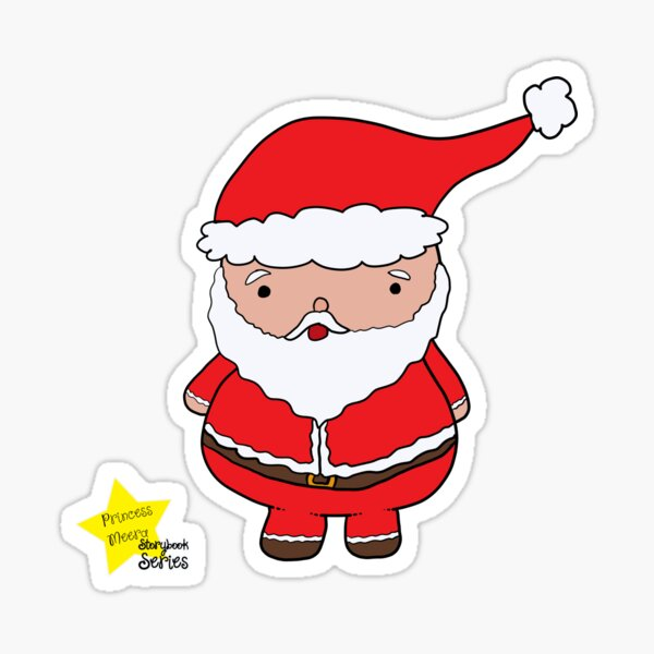 Father Christmas from the Princess Meera Storybook Sticker