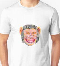Chimpanzee Head Front Low Polygon Unisex T-Shirt