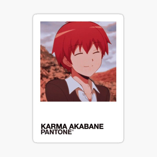 Échantillon de couleur Karma Akabane Sticker