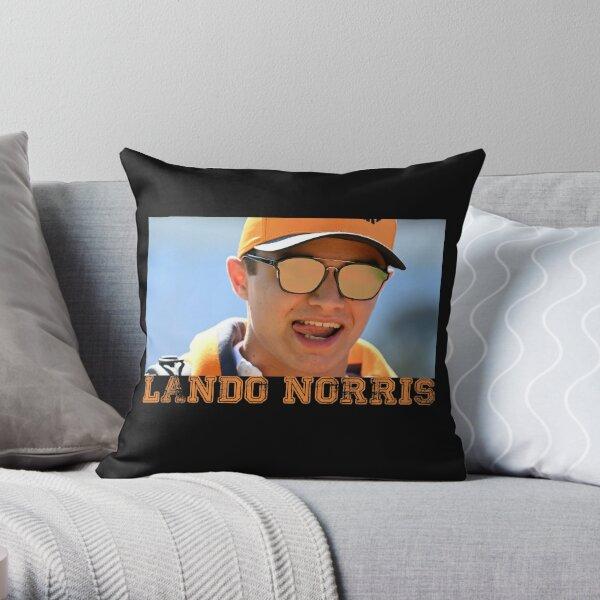 Lando Norris mclaren team Throw Pillow