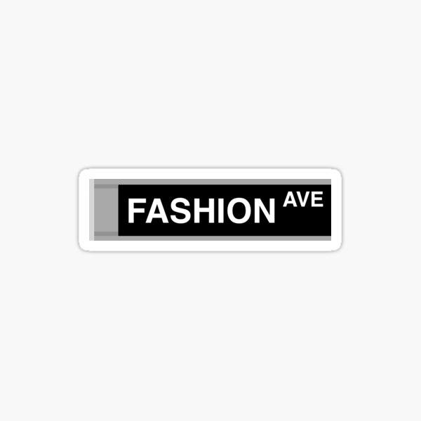 Fashion Ave NYC Sign Sticker