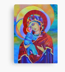 Virgin Mary with Child Jesus icon, Madonna and Child Canvas Print