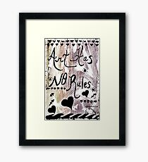 Rachel Doodle Art - Art Has No Rules Framed Print