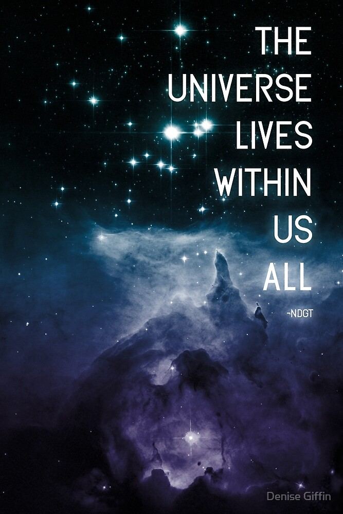 The Universe Lives Within Us All - NdGT Quote by Denise Giffin