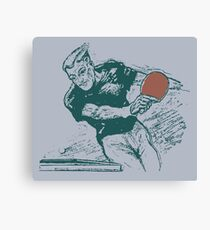 Ping pong, retro vector expressionist Canvas Print