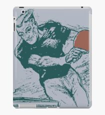 Ping pong, retro vector expressionist iPad Case/Skin