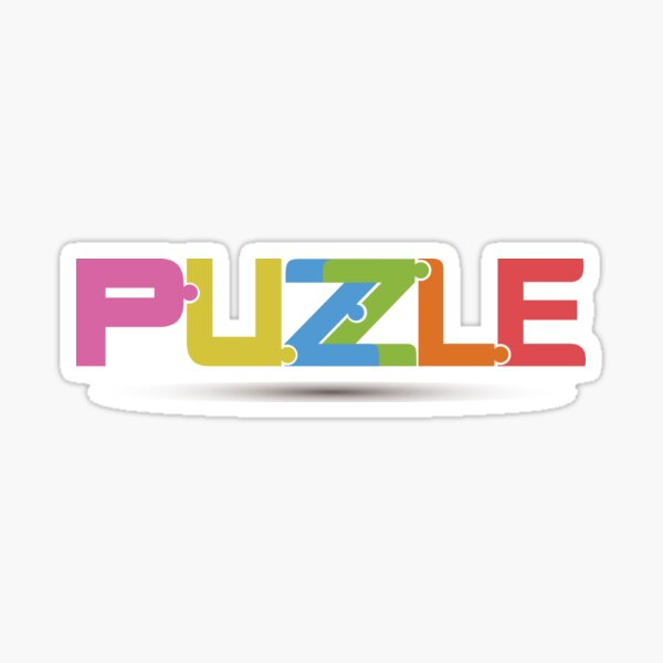 T-shirt of puzzle Sticker