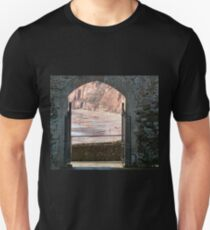 View From Garden Cafe Area In Sidmouth Unisex T-Shirt