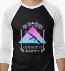 Aesthetics Ak-47 Pyramid Men's Baseball ¾ T-Shirt