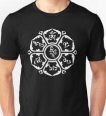 Om Mani Padme Hum (white on dark) Unisex T-Shirt