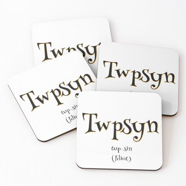 Twpsyn - White Theme Coasters (Set of 4)