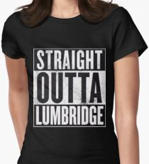 Straight Outta Lumbridge Women's Fitted T-Shirt