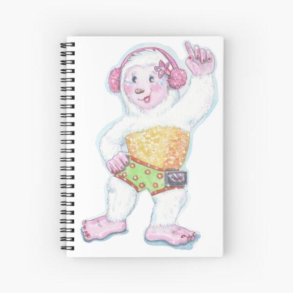 Helen The Disco Yeti Spiral Notebook