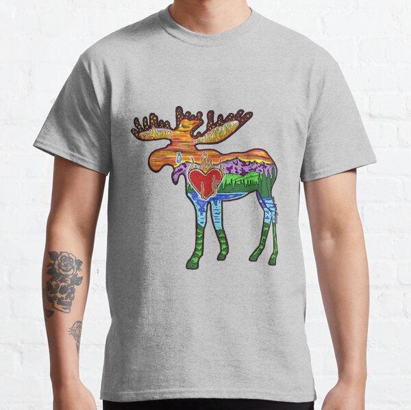 Heart Afire Moose Classic T-Shirt