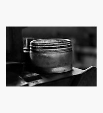 Glass jar mono Photographic Print