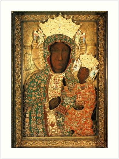 Quot Polish Black Madonna Icon Christian Catholic Art Our