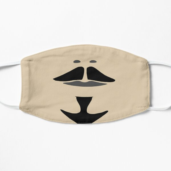Skin Tone Beige Gray and Black Athos Musketeer Mustache and Goatee Mask
