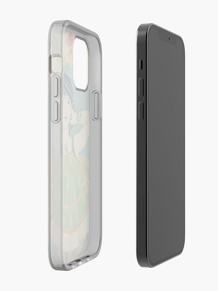 Coque iPhone ''Parure Poisson bleu - Illustration Art Nouveau': autre vue