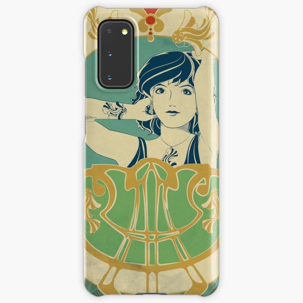 Coque et skin adhésive Samsung Galaxy «Parure Poisson bleu - Illustration Art Nouveau»