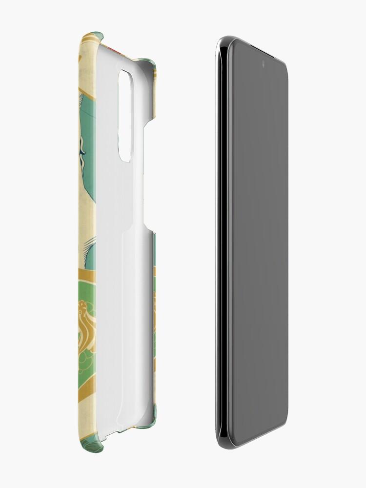 Coque et skin adhésive Samsung Galaxy ''Parure Poisson bleu - Illustration Art Nouveau': autre vue