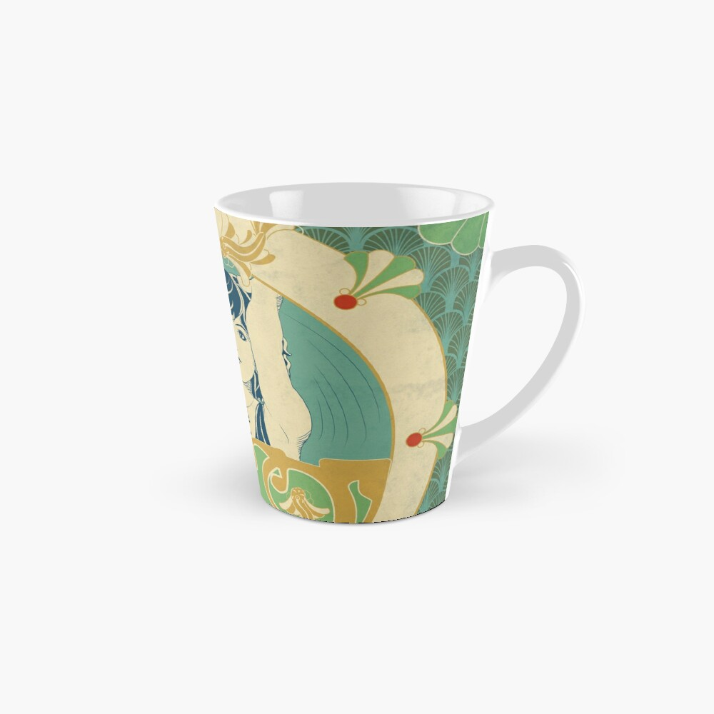 Mug «Parure Poisson bleu - Illustration Art Nouveau»