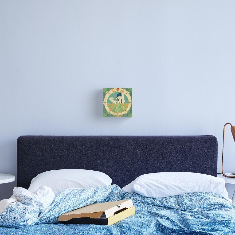 Impression sur toile «Parure Poisson bleu - Illustration Art Nouveau»
