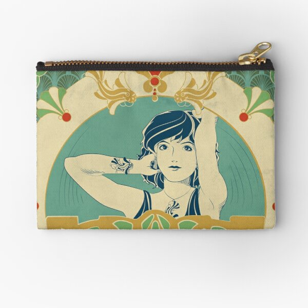 Parure Poisson bleu - Illustration Art Nouveau Pochette