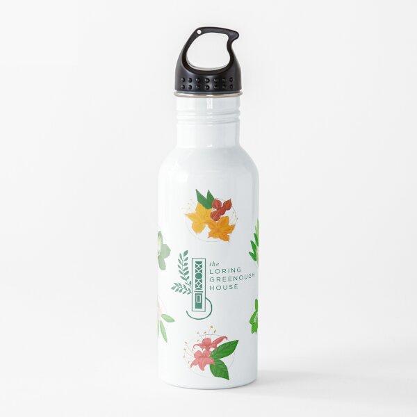 Plantas nativas y logotipo Botella de agua