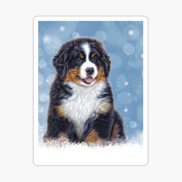 Bernese Mountain Dog Puppy in Snow Sticker