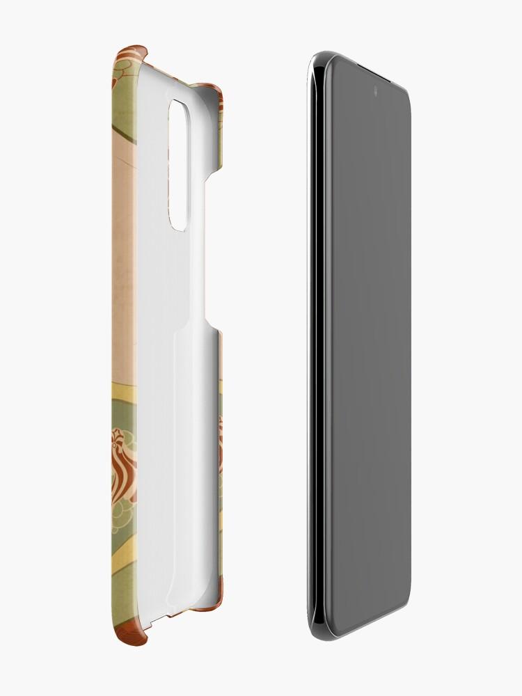 Coque et skin adhésive Samsung Galaxy ''Parure Poisson rouge': autre vue