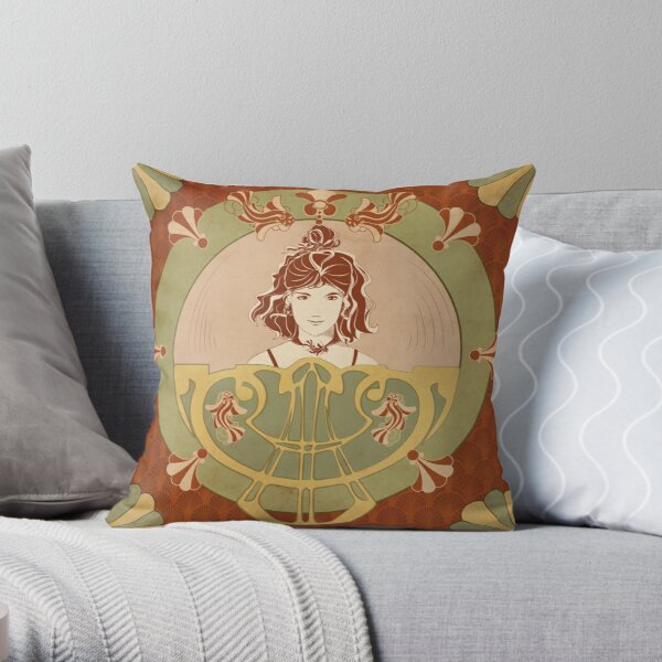 Parure red Fish Throw Pillow