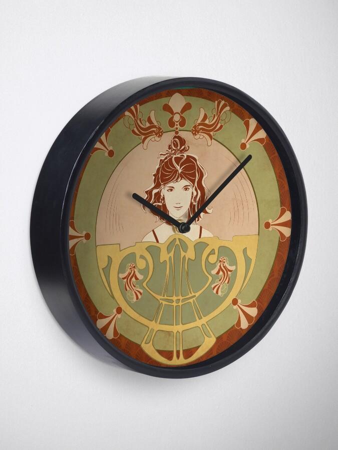 Horloge ''Parure Poisson rouge': autre vue