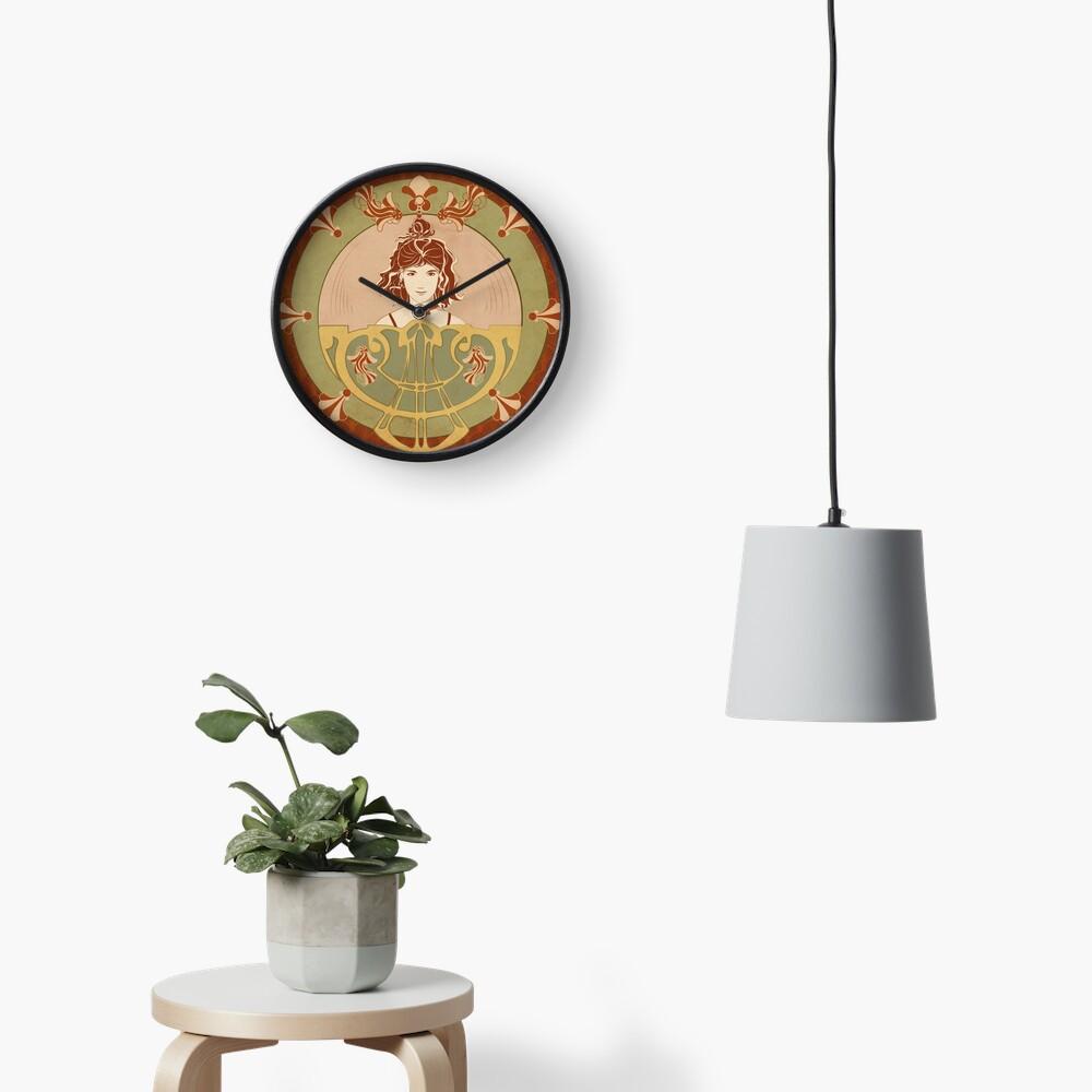 Horloge «Parure Poisson rouge»