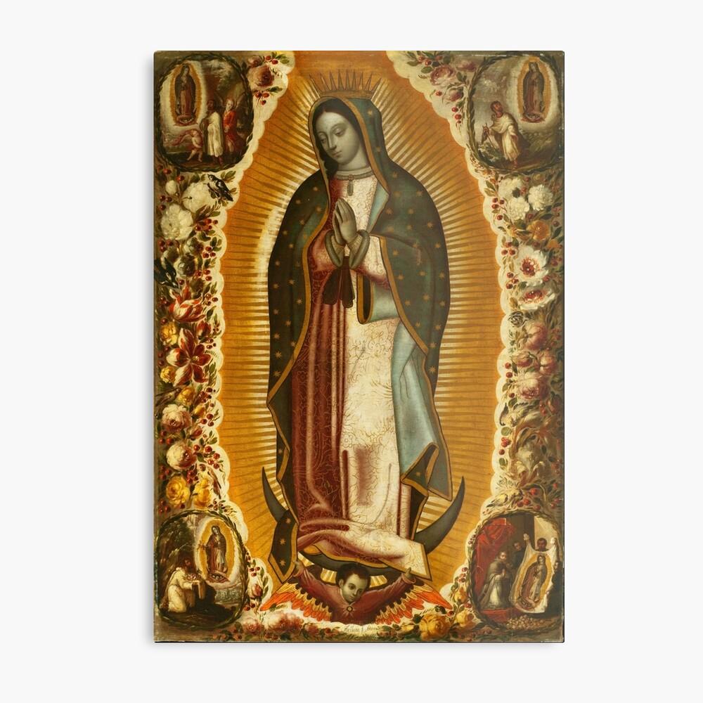 Unsere Liebe Frau von Guadalupe, Jungfrau Maria, Gottesmutter Metallbild
