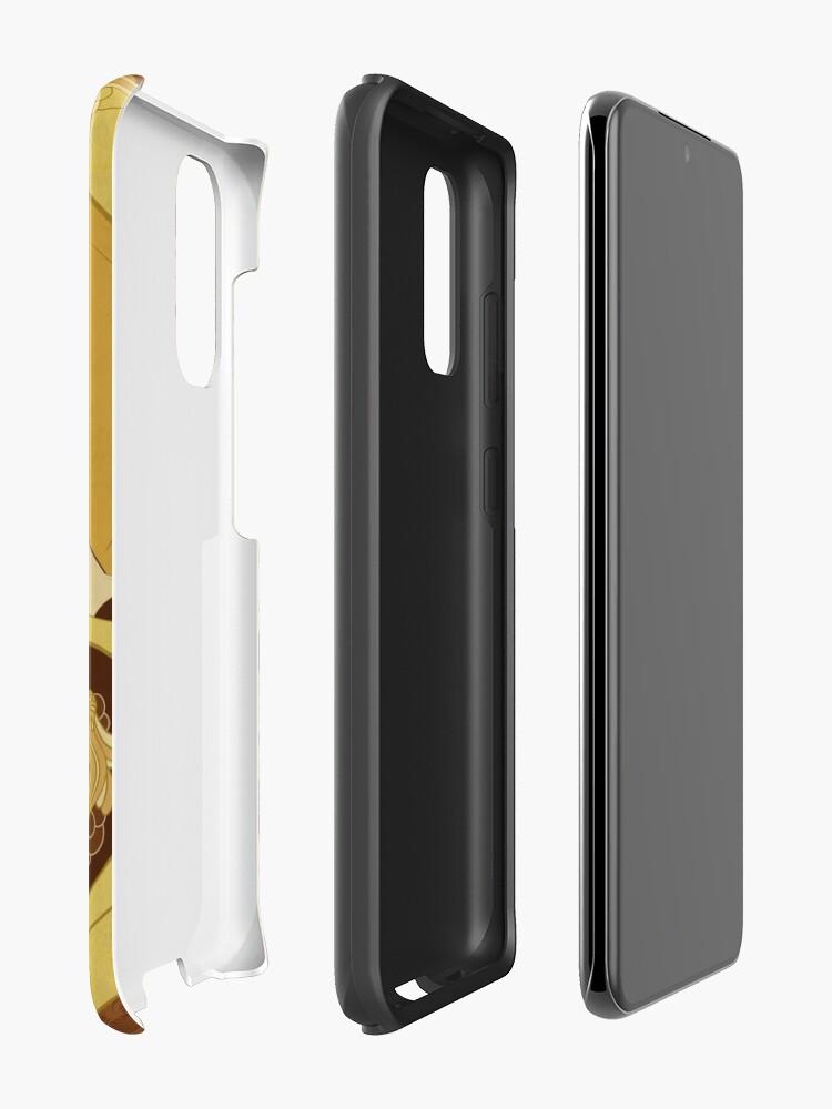 Coque et skin adhésive Samsung Galaxy ''Parure Poisson brun': autre vue