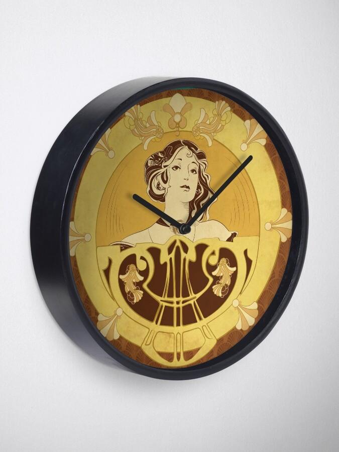 Horloge ''Parure Poisson brun': autre vue