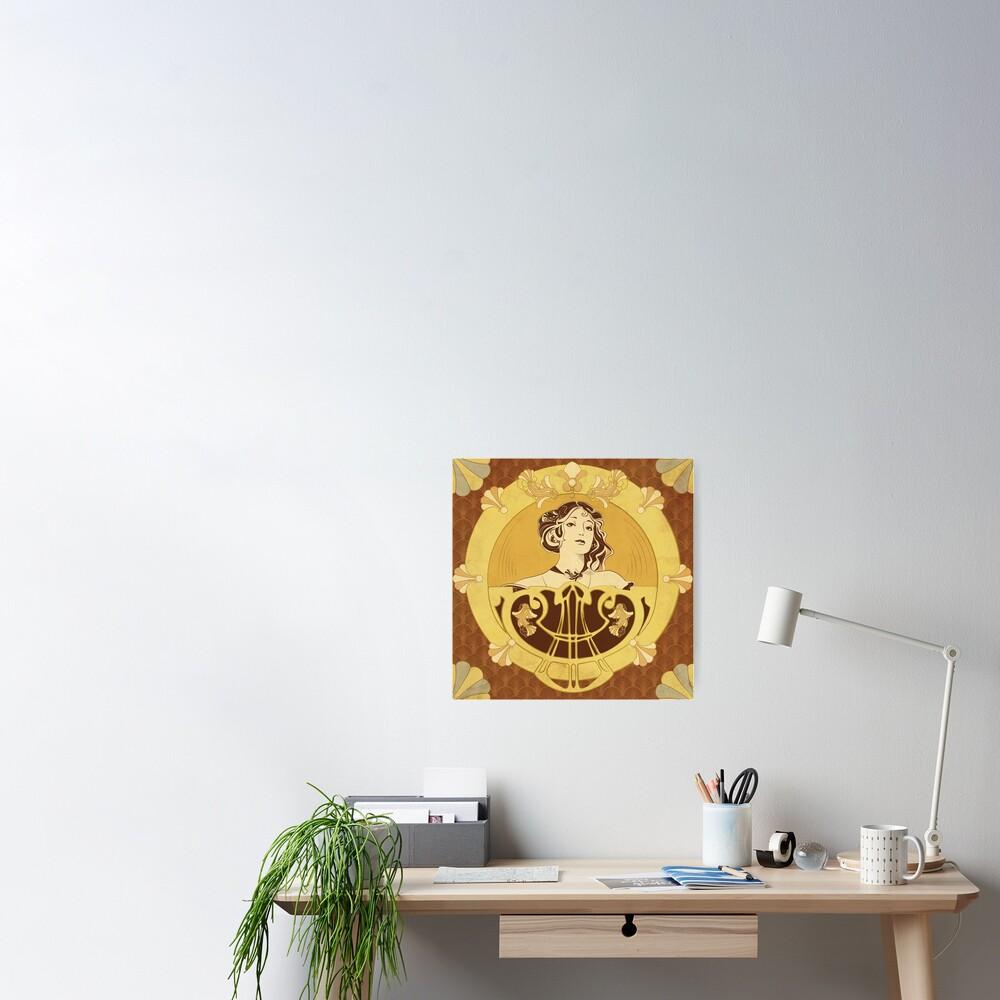 Poster «Parure Poisson brun»