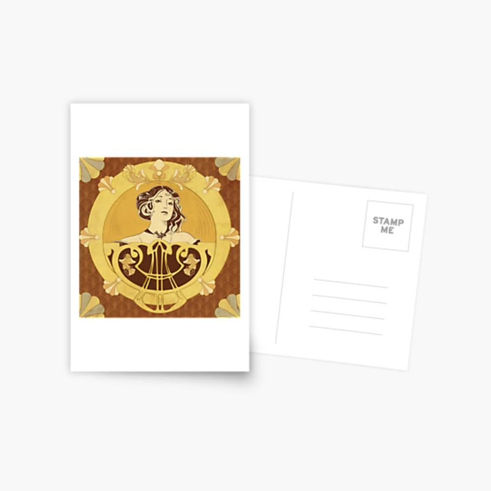 Carte postale «Parure Poisson brun»