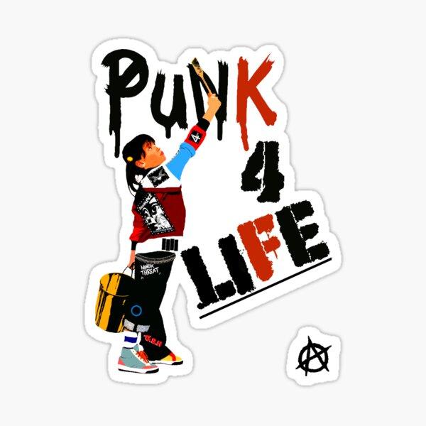 "Punky ""Punk 4 Life"" Brewster Sticker"