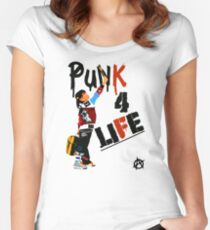 "Punky ""Punk 4 Life"" Brewster Women's Fitted Scoop T-Shirt"