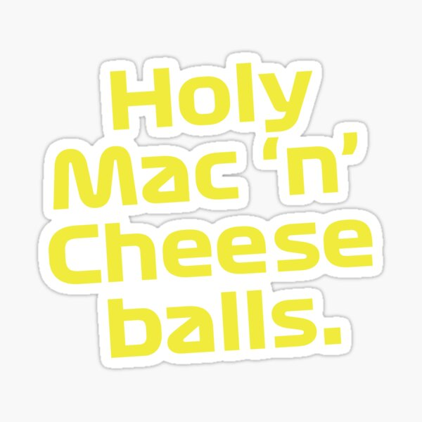 Boules de macaroni au fromage - Dani Ricciardo Sticker