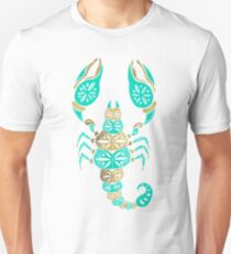 Scorpion – Turquoise & Gold T-Shirt
