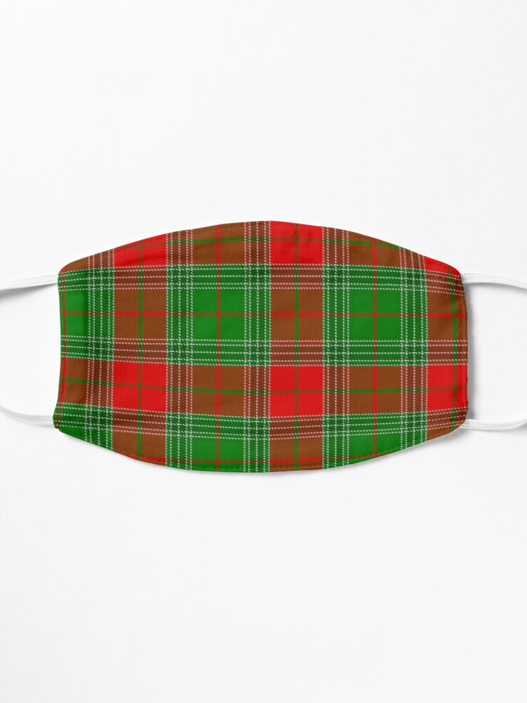 Alternate view of Red and Green Plaid, Red and Green Check, Tartan Mask