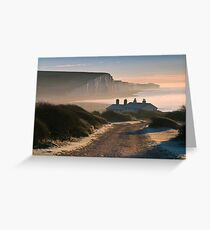 Sussex coast guard cottages Greeting Card