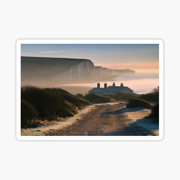 Sussex coast guard cottages Sticker
