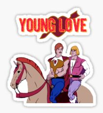 Young Love (He-Man and Bow) Sticker