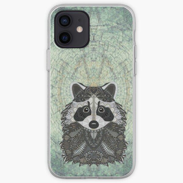 Ornate Raccoon iPhone Soft Case